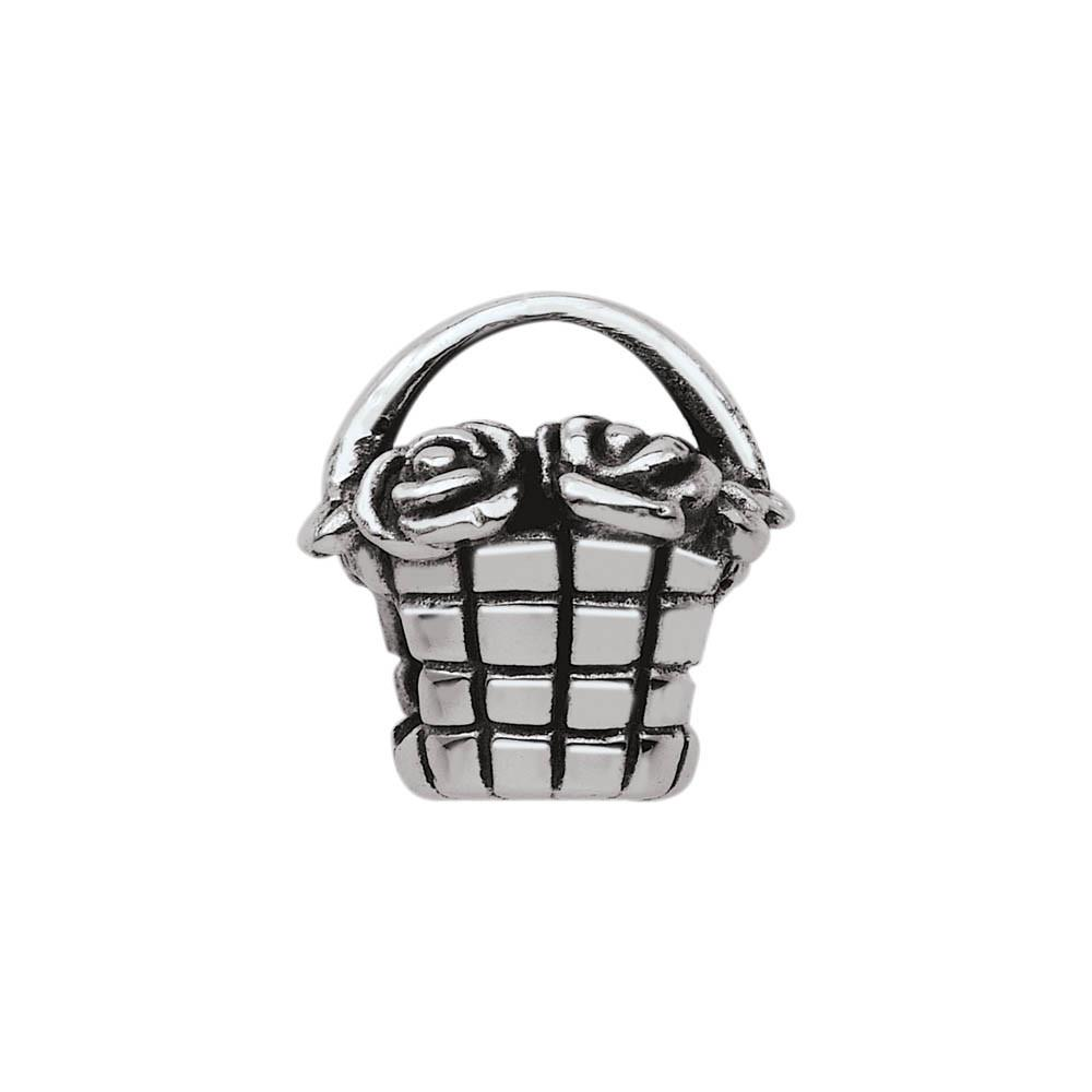 Blooming Basket Personagirl charm Sterling Silver Silver