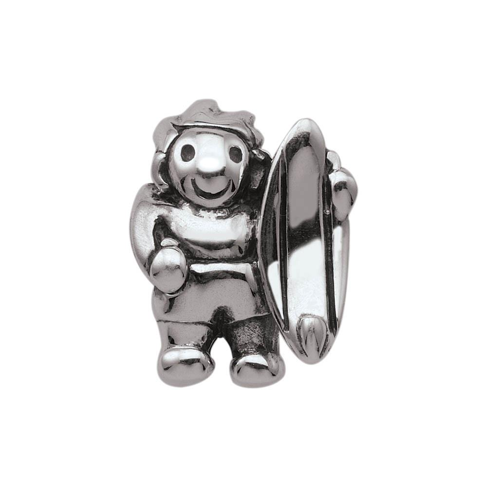 Surfs Up Personagirl charm Sterling Silver Silver