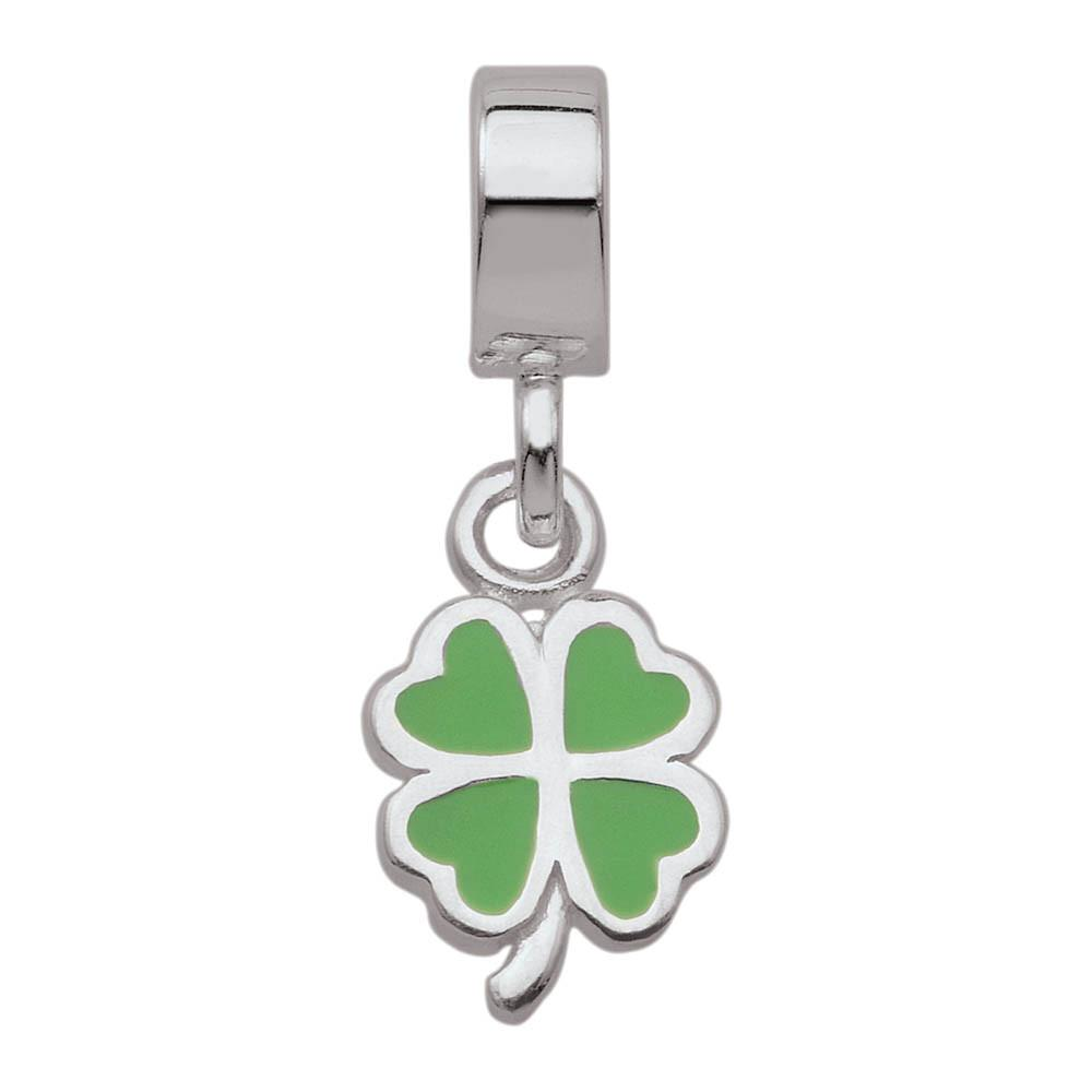 Lucky Clover Personagirl charm Sterling Silver Green