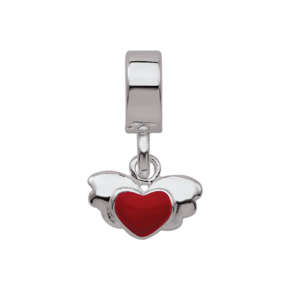 Soaring Heart Personagirl charm Sterling Silver Red