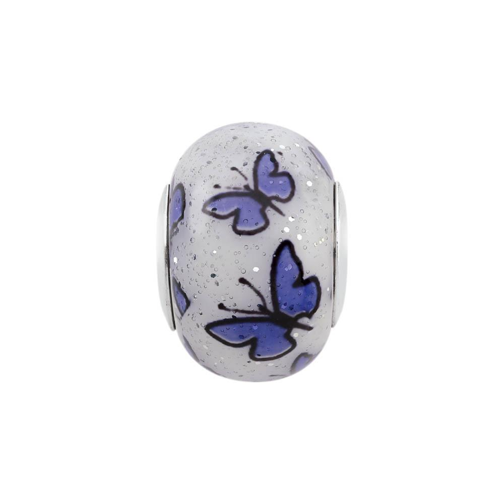 Happy Butterfly PersonaGirl Jewelry style Beads finish Sterling Silver parentcolor Purple