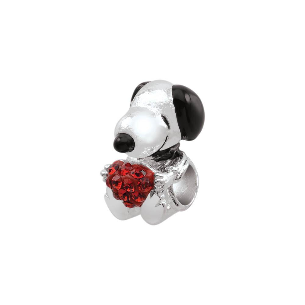 Snoopy Love Personagirl charm Sterling Silver Red