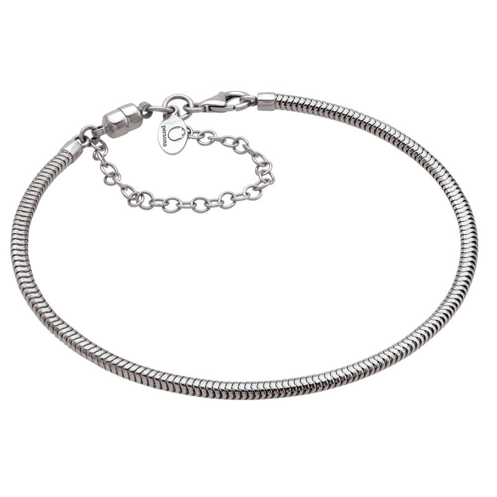 Sterling Silver Magnetic Safety Chain Lobster Clasp Bracelet