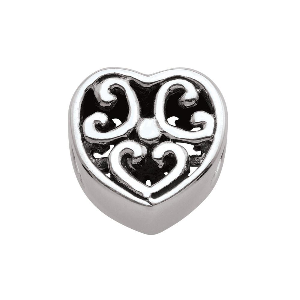 Elegant Heart Persona Charms Silver
