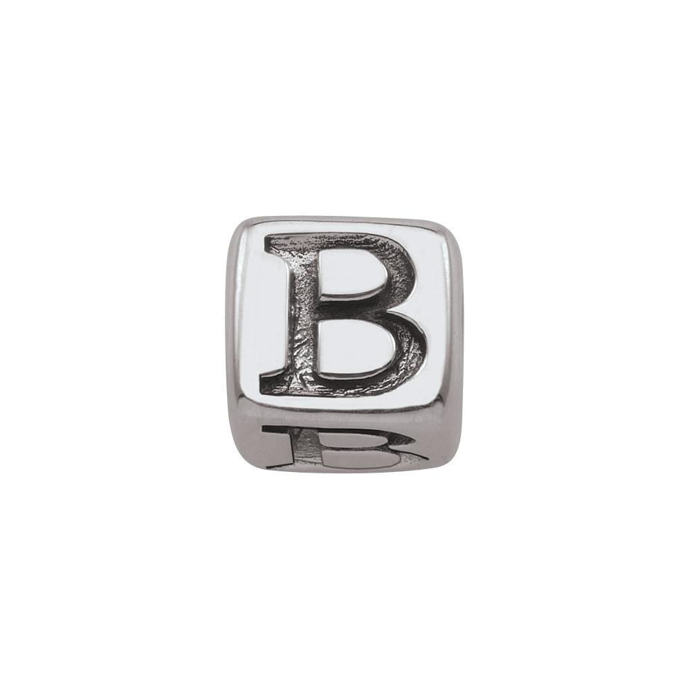 Sterling Silver Initial B