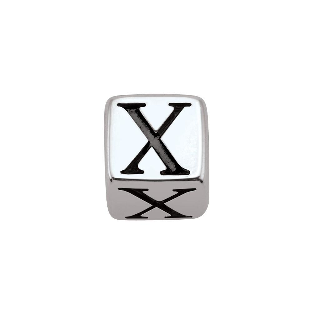 Sterling Silver Initial X