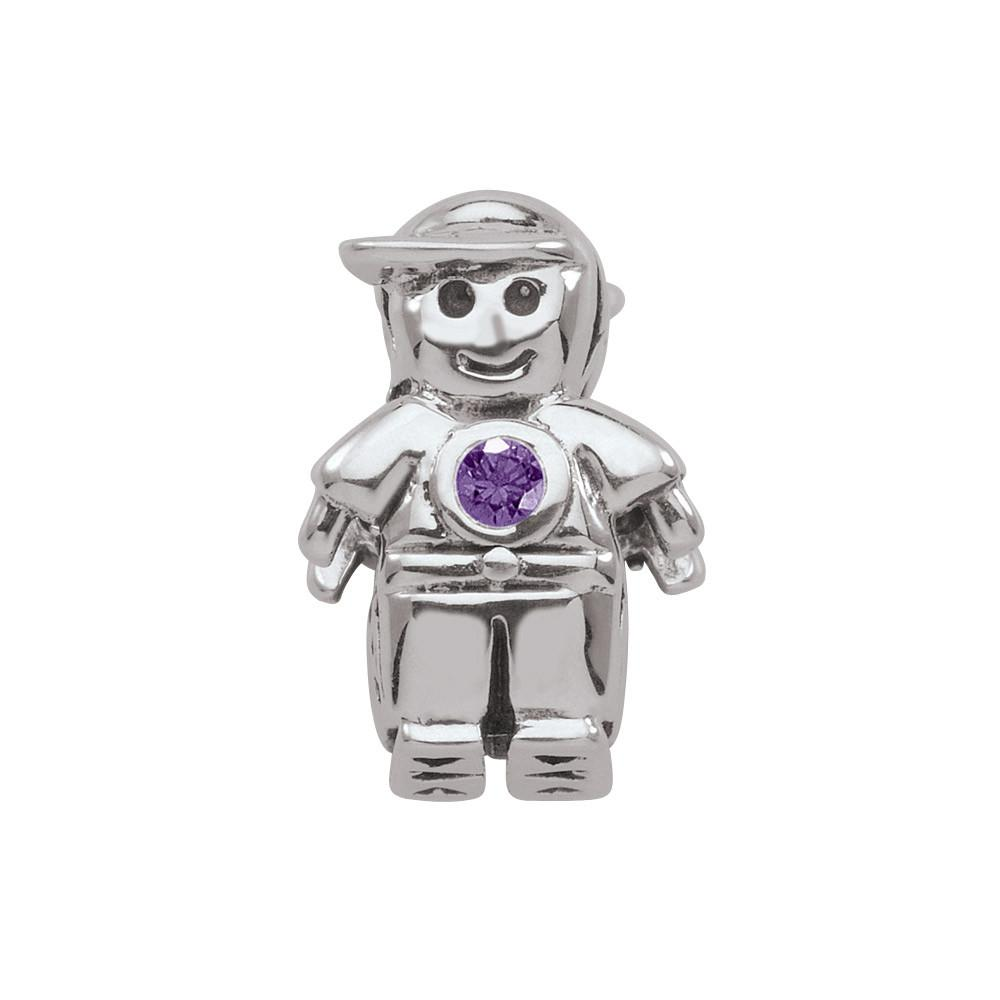 February Boy Persona Charms Purple