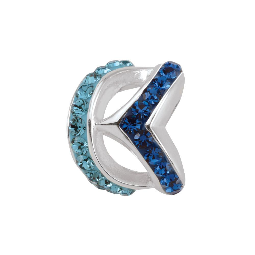 Cyan Chevron Persona Charms Blue