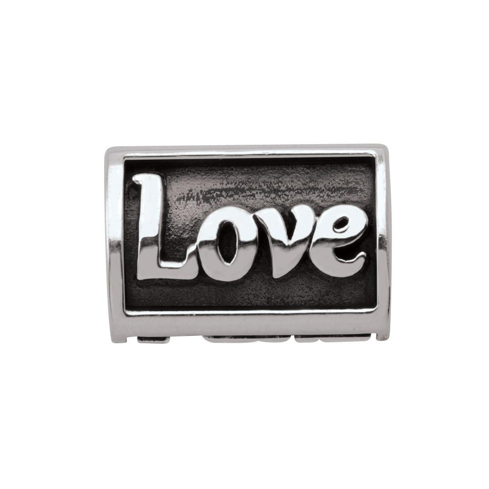 Live Love Laugh Persona Jewelry style Beads parentcolor Silver