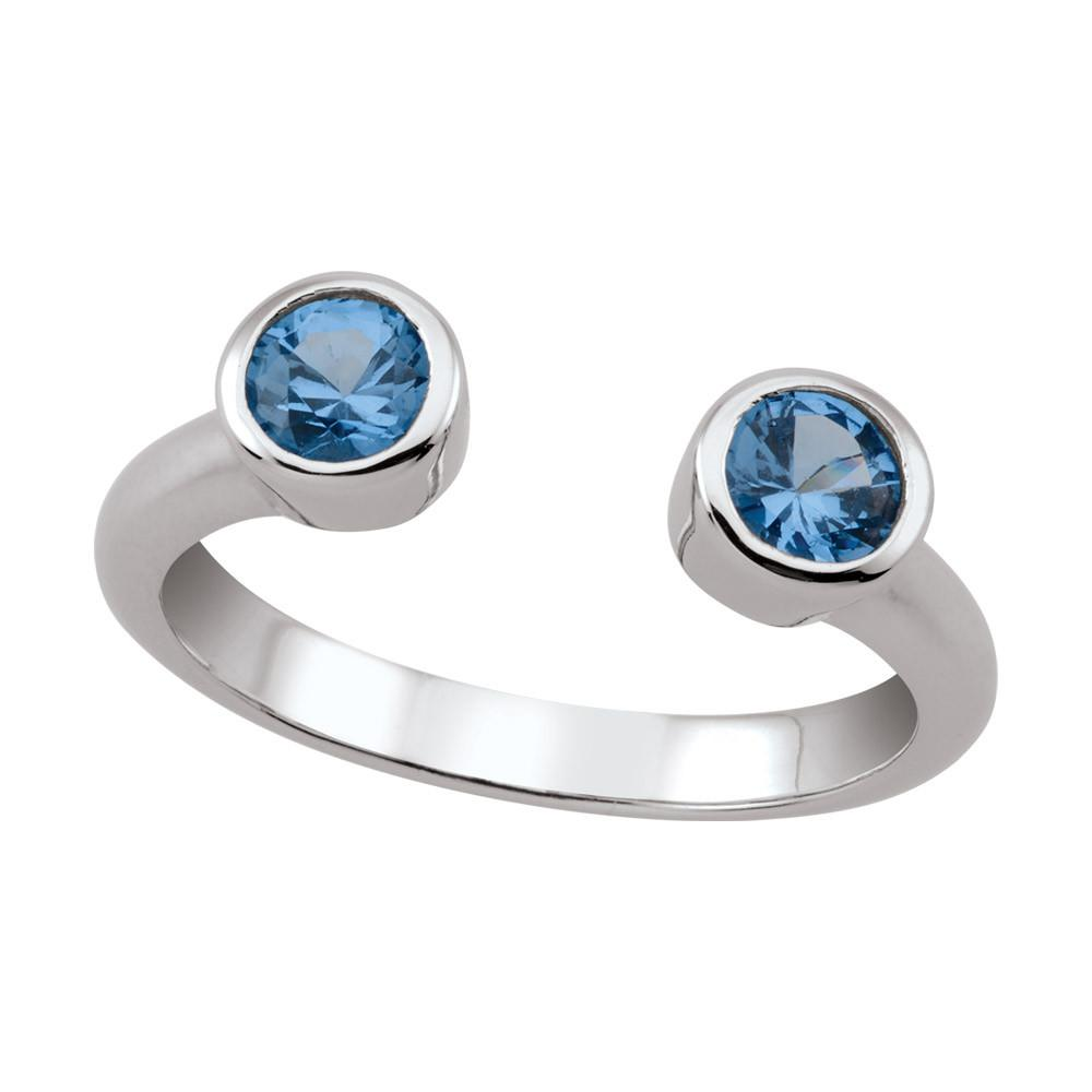 Open Bezel Ring in Azure