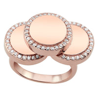 Rose Cascading Disc Ring