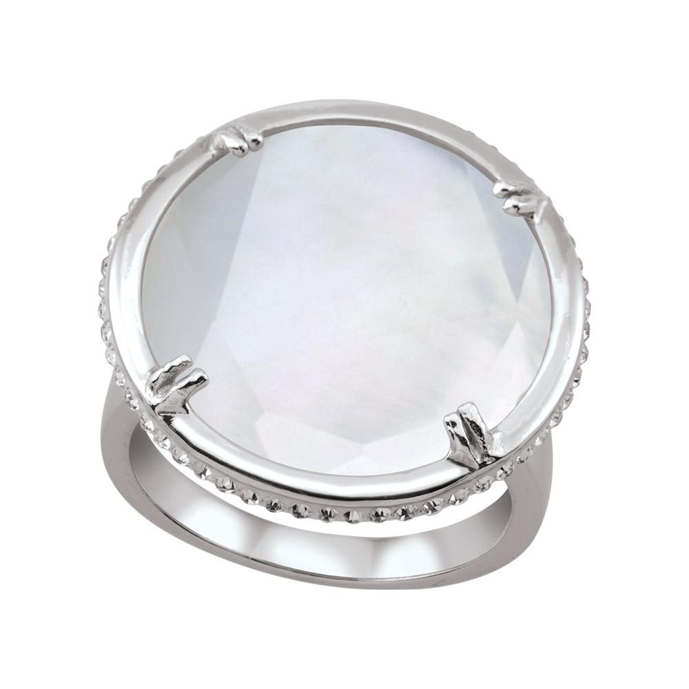 Round Doublet Cocktail Ring