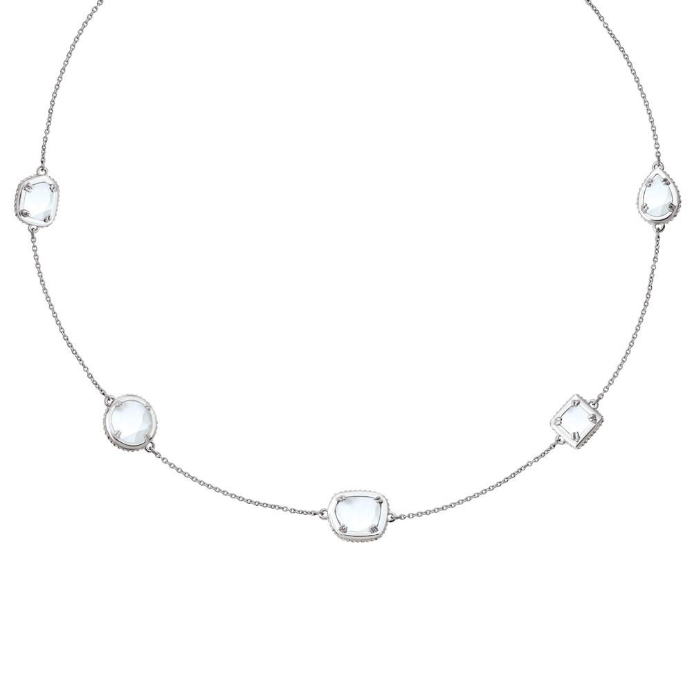 Endless Doublet Necklace in White
