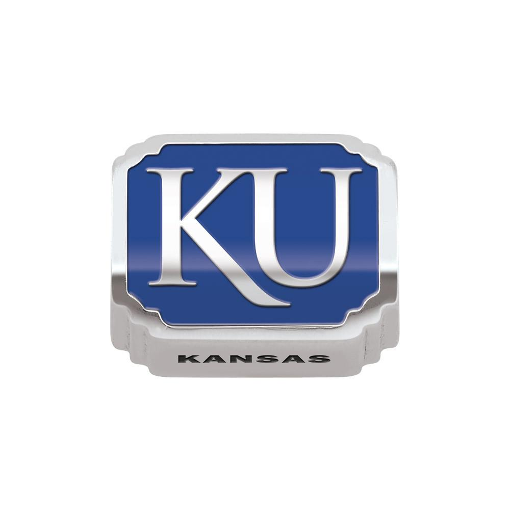 U of Kansas Campus Life Charms Sterling Silver Enamel Collegiate University of Kansas schools