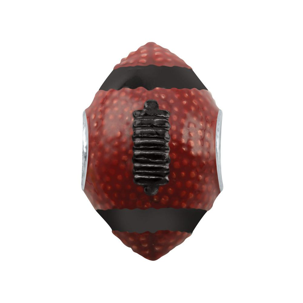Burgundy Black Football