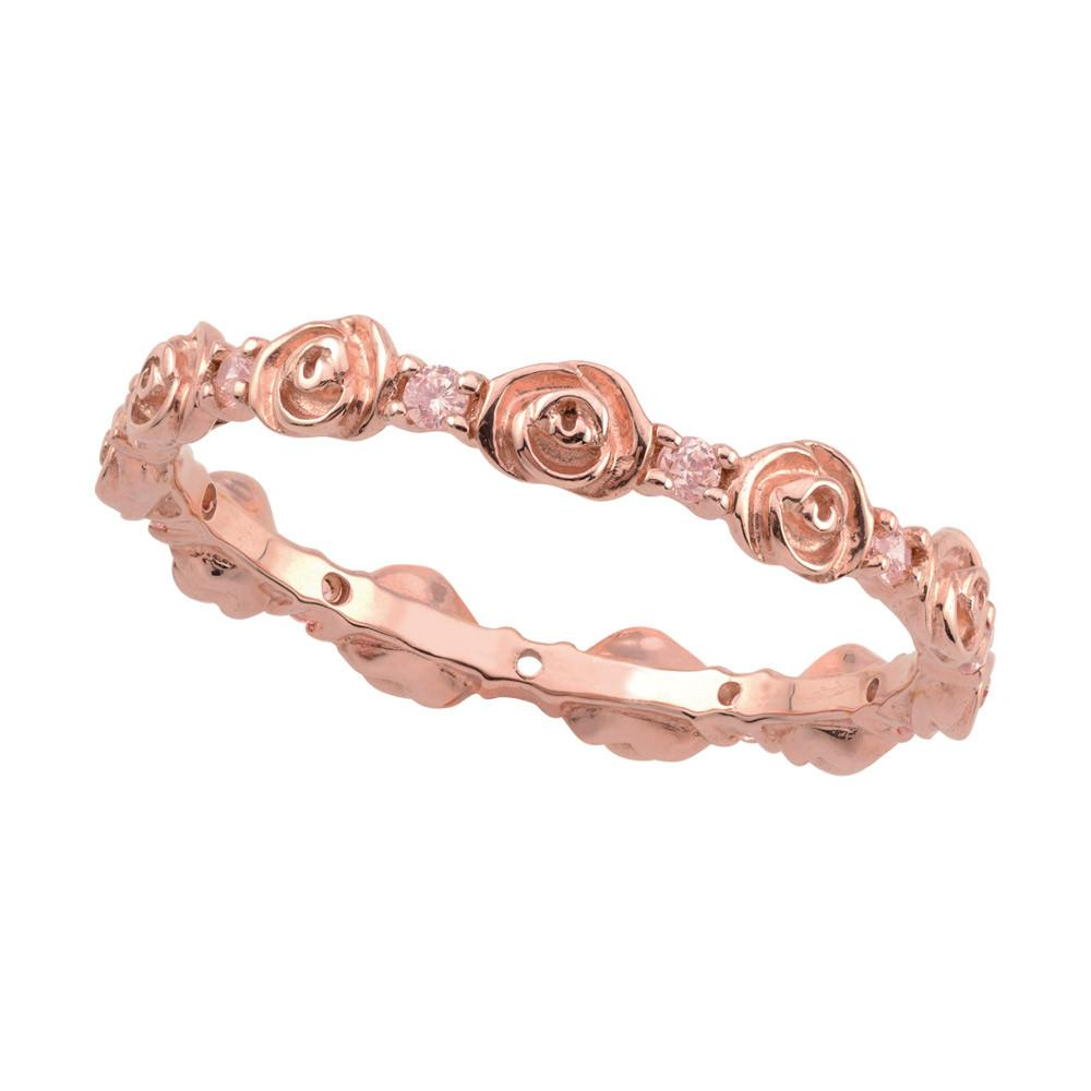 Rose Rosebud Ring Persona style-Rings finish-Rose Gold parentcolor-Rose Gold