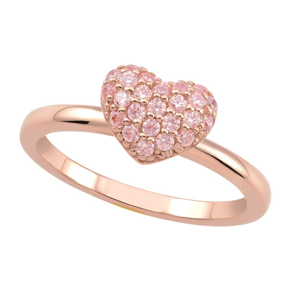 Rose Pavé Heart Ring Persona style-Rings finish-Rose Gold parentcolor-Rose Gold