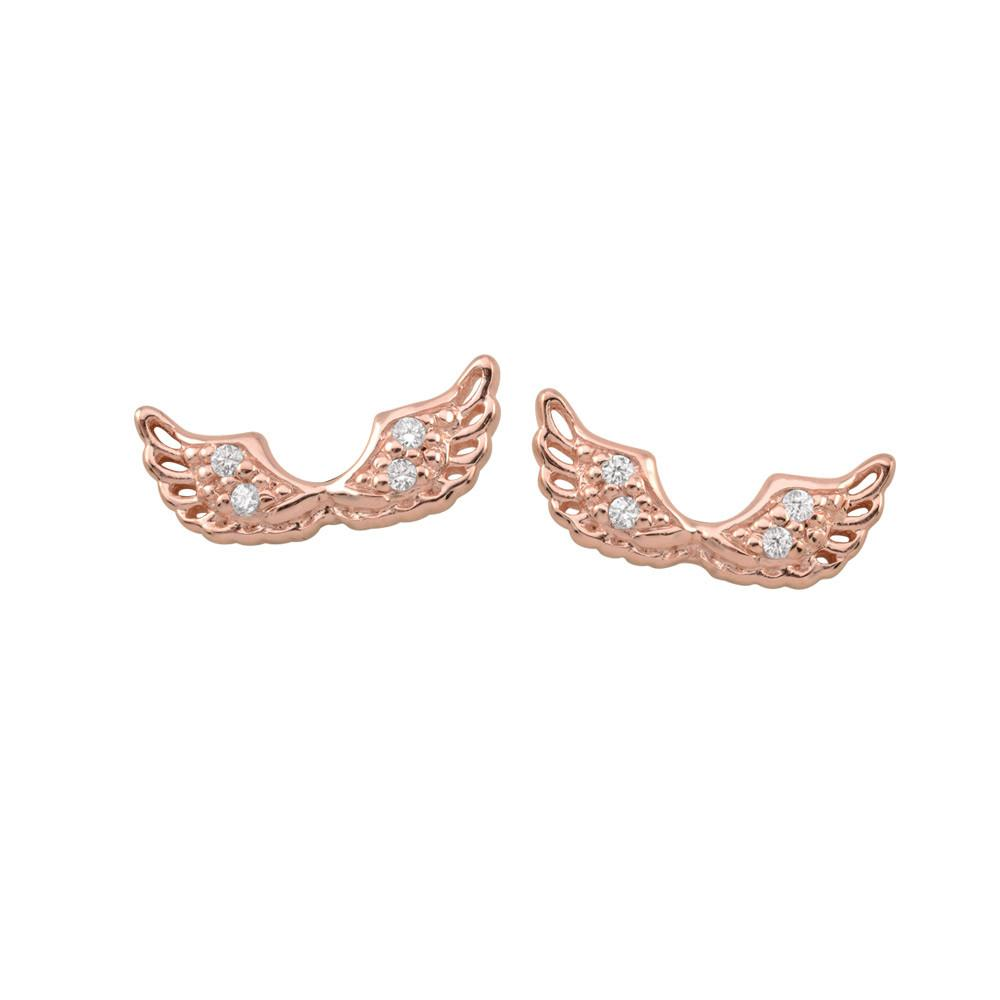 Rose Angel Wing Studs