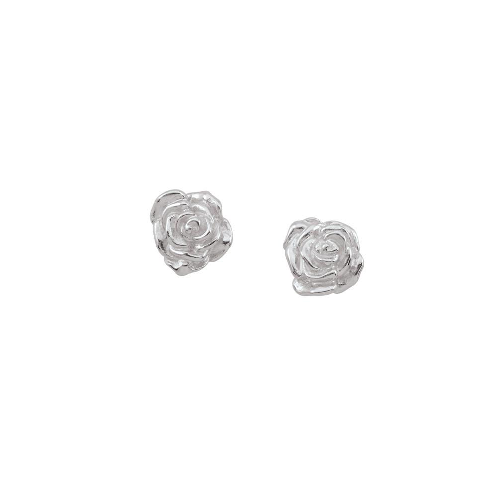 Rosebud Studs  Persona style-Earrings finish-Sterling Silver parentcolor-Silver
