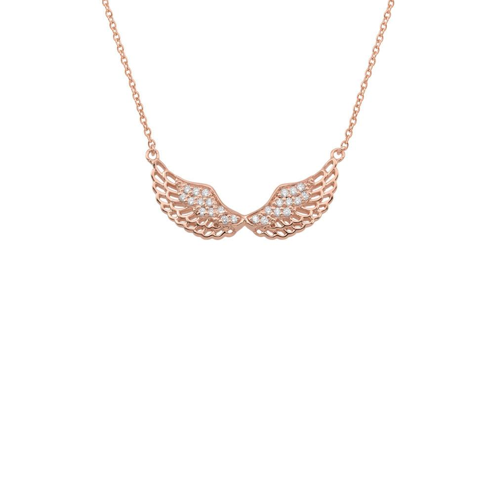 Angel Wing Rose Necklace