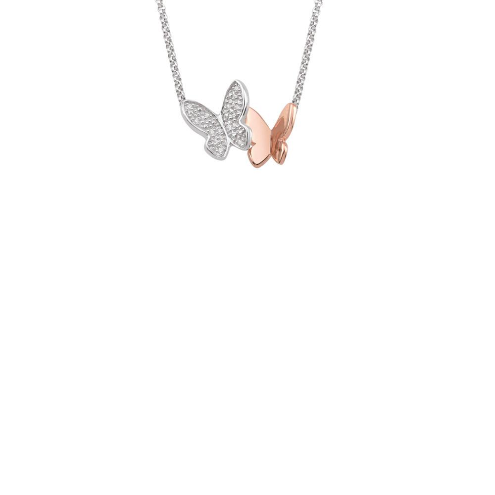 Rose Flutter Butterfly Necklace Persona style-Necklaces finish-Rose Gold parentcolor-Rose Gold