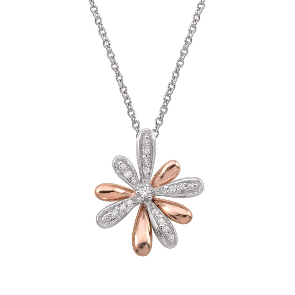 Rose Flower Necklace Persona style-Necklaces finish-Rose Gold parentcolor-Rose Gold