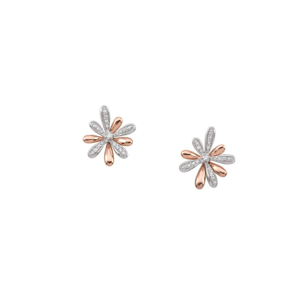 Rose Flower Studs Persona style-Earrings finish-Rose Gold parentcolor-Rose Gold