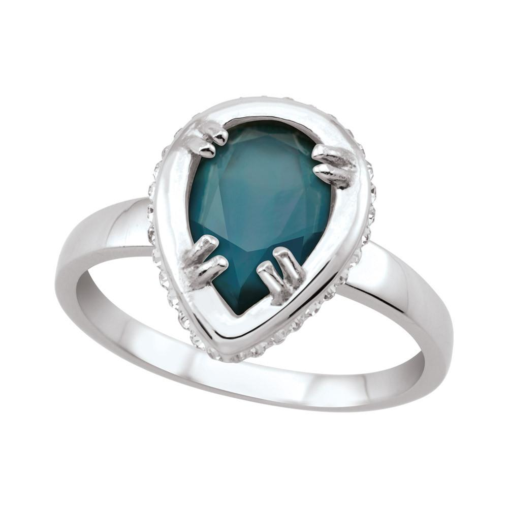 Teardrop Doublet Ring in Blue