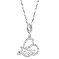 Love Silver Necklace Set