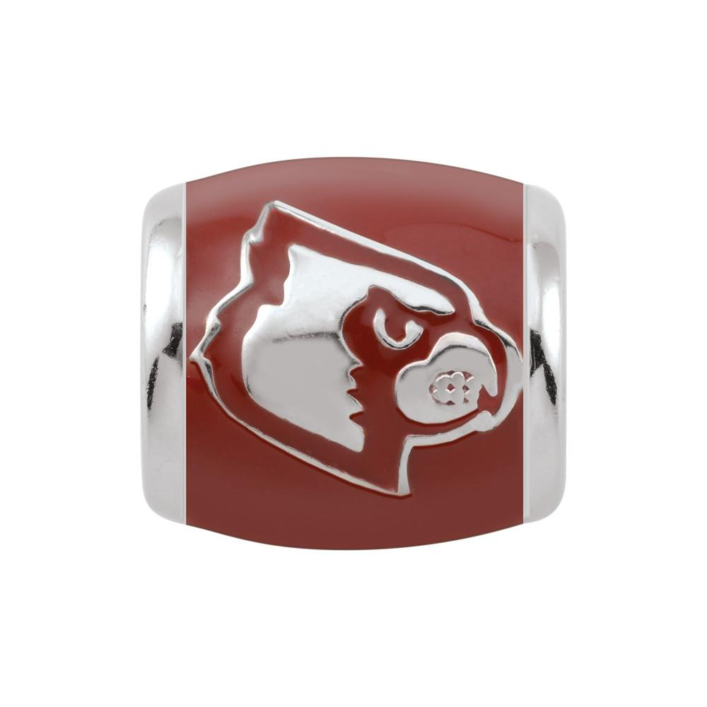 U of Louisville Spirit Red Campus Life Charms Sterling Silver Enamel Collegiate University of Louisville schools