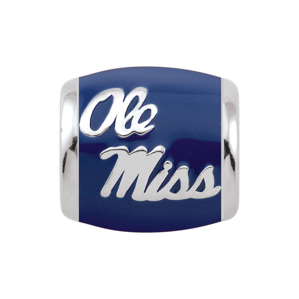 Ole Miss Spirit Blue Campus Life Charms Sterling Silver Enamel Collegiate University of Mississippi schools
