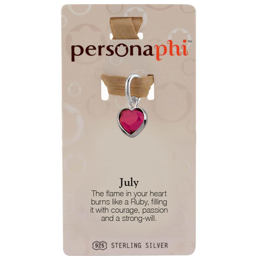 July Birthstone Amulet color Pink Persona jewelry