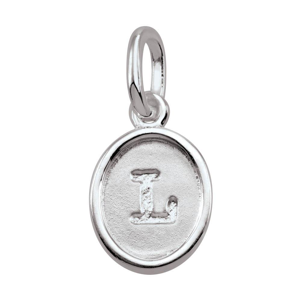 Letter L, Bold Persona jewelry  Amulets color Silver