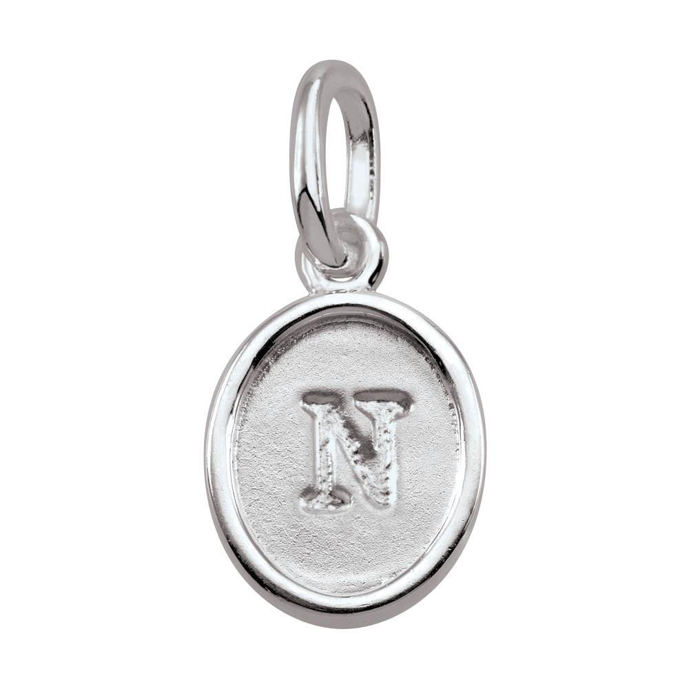 Letter N, Bold Persona jewelry  Amulets color Silver