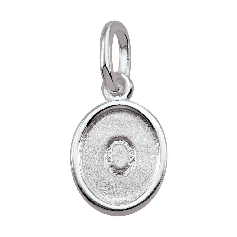 Letter O, Bold Persona jewelry  Amulets color Silver