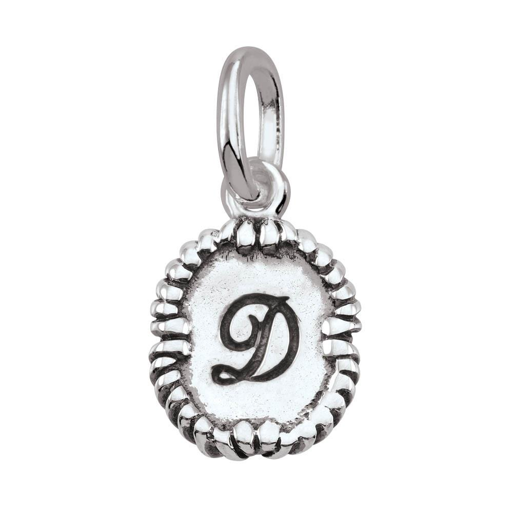Letter D, Script Persona jewelry  Amulets color Silver