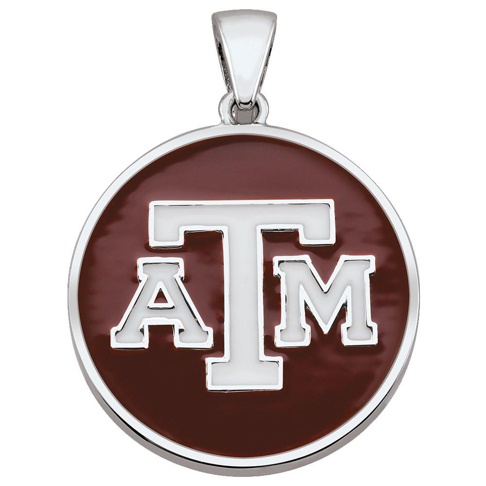 Texas A&M Pendant Campus Life style Necklaces Sterling Silver Enamel Collegiate Texas A&M University schools
