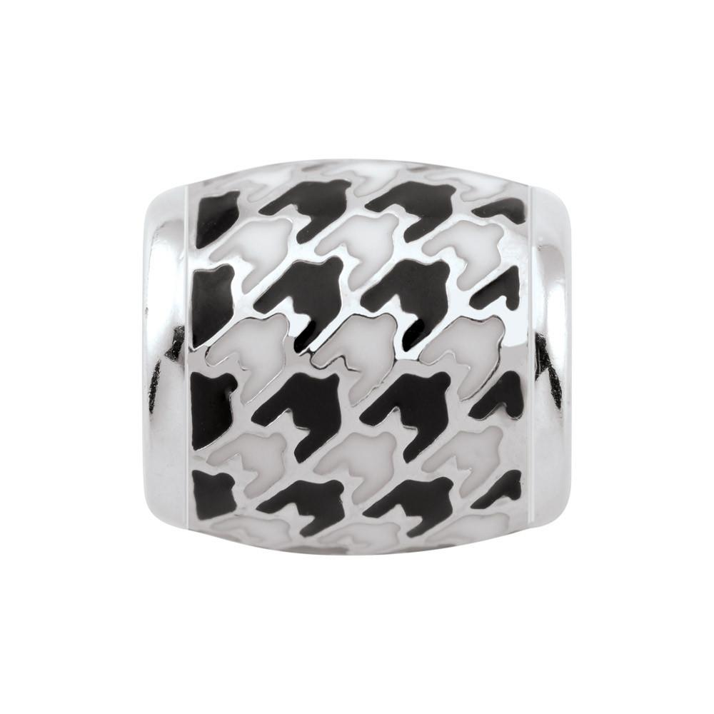 Houndstooth Bead Campus Life Charms Sterling Silver Enamel University of Alabama schools