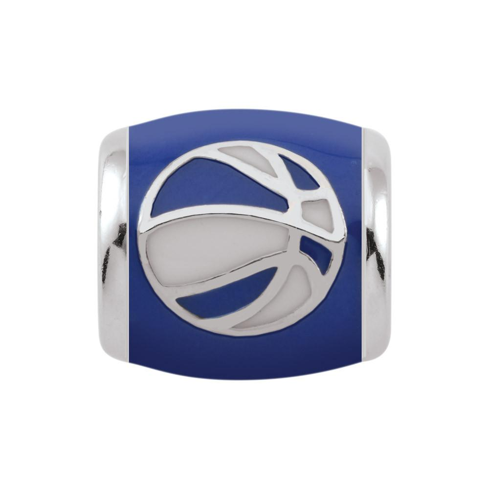 Blue Basketball Campus Life Charms Sterling Silver Enamel University of Kentucky schools