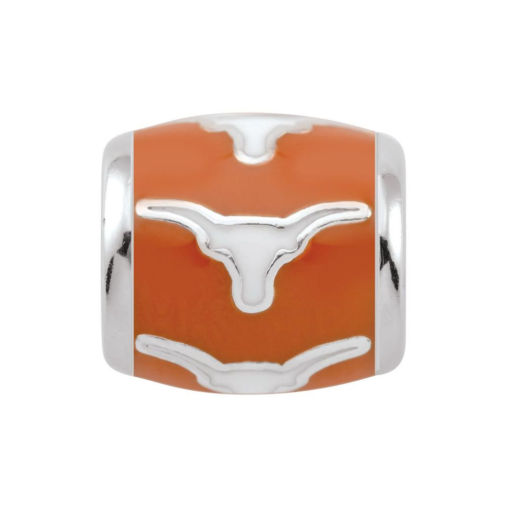 U of Texas Longhorns Burnt Orange Campus Life Charms Sterling Silver Enamel Collegiate University of Texas schools