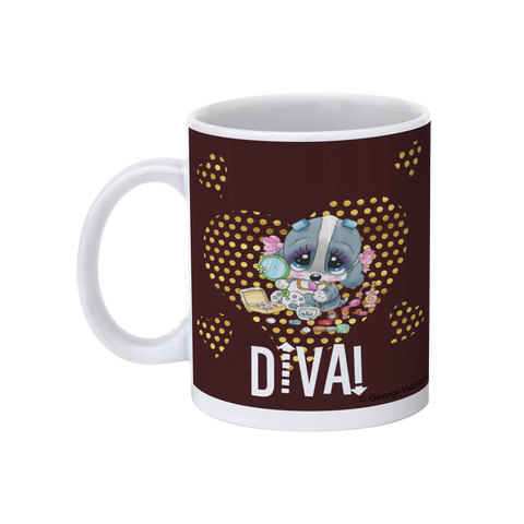 Diva! (Brown) 11oz Mug