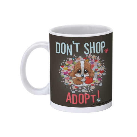 Don't Shop, Adopt! (Hearts) 11oz Mug