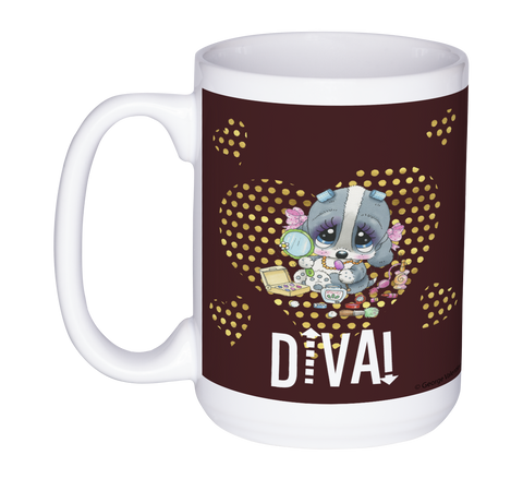 Diva! (Brown) 15oz Mug