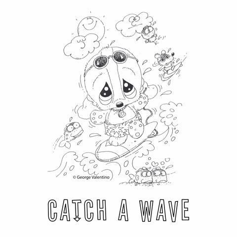 Catch a Wave Coloring Book Page