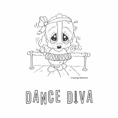 Dance Diva Coloring Book Page