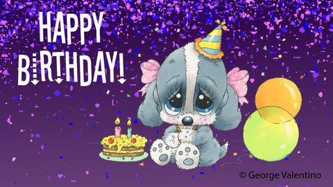 Happy Birthday Balloons E-Card