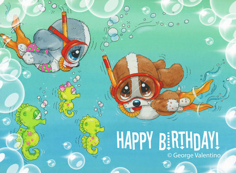 Underwater Happy Birthday E-Card
