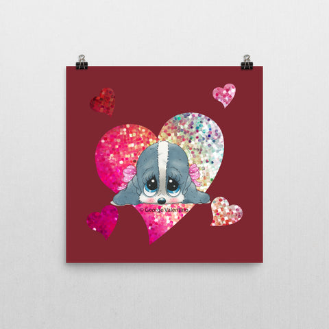 Honey® Head Heart Poster 12x12