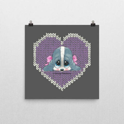 Honey® Head Hearts Poster 12x12