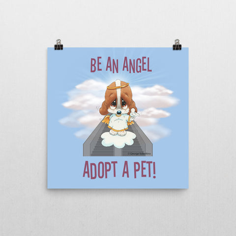 Be an Angel Poster 12x12